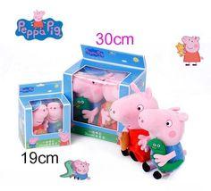 Buy Genuine Peppa Pig peppa George plush toy with Pet Teddy Bear / Dinosaur boy girl birthday Chirstmas gift toy Peppa Pig, Girl Birthday, Toy Chest, Plush, Teddy Bear, Toys, Gifts, Movies, Activity Toys