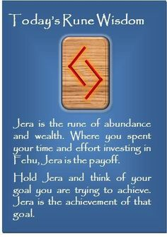 ☆ Today's Rune Wisdom -:¦✪¦:- Jera ☆