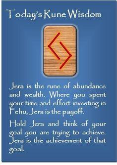 ☆ Today's Rune Wisdom -:¦✪¦:- Jera ☆