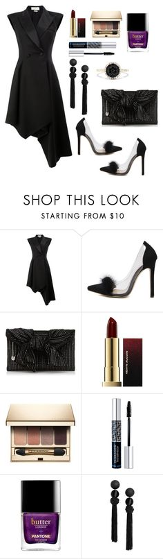 """Untitled #893"" by mamatoodie-1 ❤ liked on Polyvore featuring Monse, WithChic, Kevyn Aucoin, Clarins, Christian Dior and Effy Jewelry"