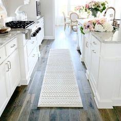 Beautiful Interiors, Beautiful Homes, Beautiful Things, Kitchen Runner, Kitchen Rug, Kitchen Decor, Kitchen Flooring, Kitchen Backsplash, Kitchen Storage
