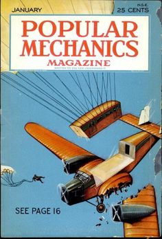 Historic Posters, Science Magazine, Passenger Aircraft, Vintage Air, Popular Mechanics, Air Travel, Historian, Travel Posters, Scenery