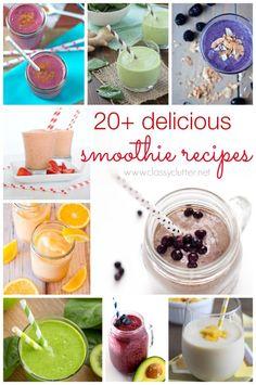 20+ delicious smoothie recipes - don't you love smoothies!  #smoothieheaven