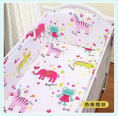 Promotion! 5PCS crib bed around cot nursery baby bedding set crib bumper  ,include:(4bumper+sheet)
