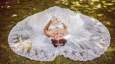 dress, bouquet, the bride, wedding