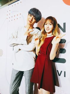 Find images and videos about kpop, exo and chanyeol on We Heart It - the app to get lost in what you love. Exo Red Velvet, Wendy Red Velvet, Exo Couple, Korean Couple, Kpop Couples, Celebrity Couples, Park Chanyeol Exo, Baekhyun, Wendy Son