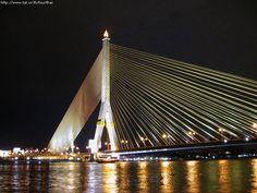 Praram8 bridge in Bangkok thailand.