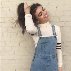 Brandy Melville Denim Overalls Super cute! Worn 2-3x but has no signs of wear • First photo for style inspiration, see second photo for most accurate color and style  • Brand is Brandy Melville, purchased at Pacsun • size XS • NO TRADES • Brandy Melville Shorts