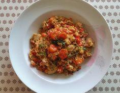 W siódmym niebie - blog kulinarny: Risotto&kaszotto z kurczakiem i warzywami Risotto, Cauliflower, Grains, Vegetables, Food, Head Of Cauliflower, Veggies, Essen, Vegetable Recipes