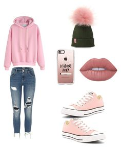 """Untitled #4"" by gg1627 ❤ liked on Polyvore featuring River Island, Converse, Casetify and Lime Crime"