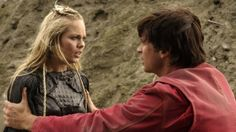 """Laura Vandervoort (Supergirl) """"Smallville.""""    And Tom Welling (Clark Kent aka Superman), come to rescue Kara from the Phantom Zone!!!"""