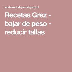 Recetas Grez - bajar de peso - reducir tallas Low Carb, Keto, Health, Tips, Food, World, Healthy Snacks, Healthy Recipes, Foods