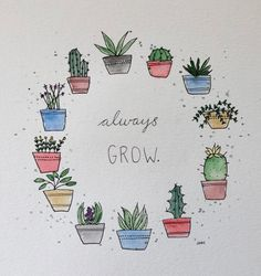 55 Best Cactus quotes images in 2018 | Decorated flower pots