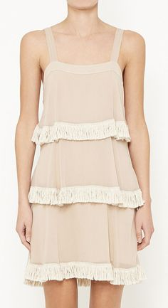Twelfth Street by Cynthia Vincent Nude And Beige Dress