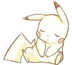 napping pikachu makes me go aww