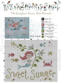 The Snowflower Diaries: LITTLE MERMAID PATTERN