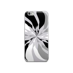 Black White Gray iPhone 5/5s/Se, 6/6s, 6/6s Plus Case