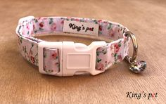Dog Collar  Cat Collar  Floral Dog Collar  Girly Dog Collar