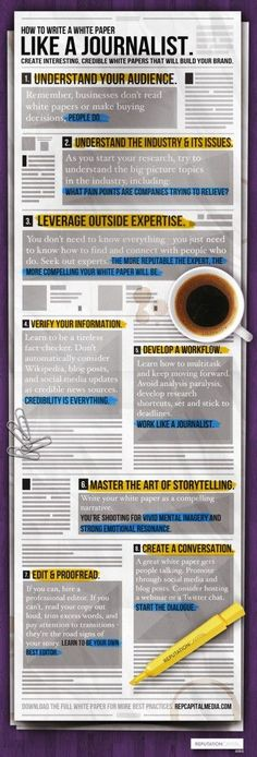 Editing steps in journalism blog ebooks courses pinterest infographic how to write a white paper like a journalist fandeluxe Gallery