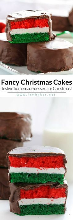Here's another quick and easy dessert recipes to make this Christmas-Fancy Christmas Cakes! Perfect as DIY Homemade Christmas gift for others! For more simple and easy dessert recipes, check us out @iambaker. #iambaker #iambakerdessert #christmasgifts