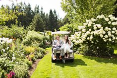 A Ride Around The Gardens For The Wedding Couple.