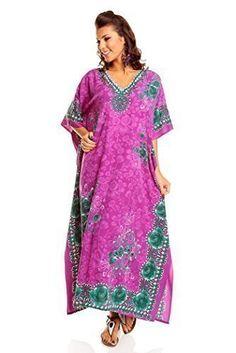 Neuf Femmes Surdimensionné Maxi Kimono Tunique Caftan Robe Caftan Grande  Taille 10 - 28 - Pourpre 3d6d434ccf9
