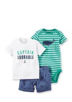 Carters  3-Piece Captain Adorable Shorts Set