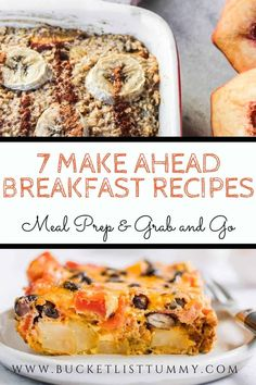 These 7 easy recipes provide healthy, make ahead ideas for breakfast for athletes to make sure you're fueling for your workout and your day. Best Breakfast Smoothies, Fall Breakfast, How To Make Breakfast, Healthy Breakfast Recipes, Brunch Recipes, Easy Recipes, Easy Family Meals, Easy Meals, Vegetarian Breakfast Casserole