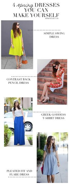 DIY FRIDAY: 4 SPRING DRESSES YOU CAN MAKE YOURSELF