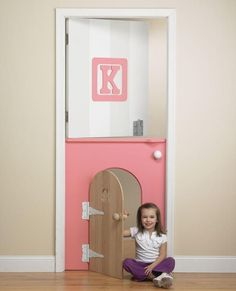 A-Door-Able - Colorful Kids' Room Design on HGTV (very cool idea.) Lucas how awesome would this door be for the playroom Deco Kids, Toy Rooms, Kids Rooms, Toddler Rooms, Block Wall, Bedroom Doors, Kids Room Design, Playroom Design, Little Girl Rooms