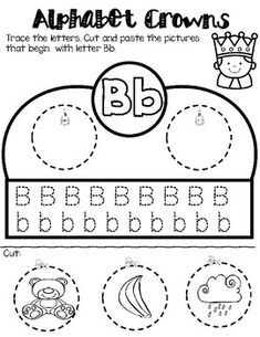 Students love making crowns for any occasion. This educational activity is not only fun but it also help students work on their fine motor skills.One crown for leach letter. Printable Preschool Worksheets, Alphabet Worksheets, Printables, Alphabet Activities, Educational Activities, Letter L, Tracing Letters, Letter Recognition, Crown Headband