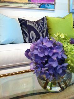 Sandra Morgan Interior Design, oomph Topaz Pillows in Blue and Green