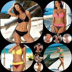 4b01aac7ee Maillot de bain femme 2 pièces bikini sexy soutien gorge push à nouer MARKO  M552 #