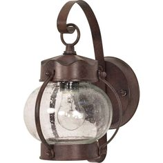 1-Light+11+Inch+Wall+Lantern+Onion+Lantern+with+Clear+Seed+Glass+finished+in+Old+Bronze