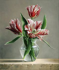 Flower Masterpieces by Pieter Wagemans. As a variation on still life, in recent years Pieter has developed his specialised talents in flower compositions. Art Floral, Deco Floral, Still Life Flowers, Gifts For An Artist, Still Life Art, Botanical Art, Beautiful Paintings, Painting Inspiration, Flower Art