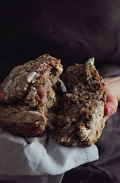 No-knead bread. Nutty flavored and crunchy crusted, made with buckwheat, rye and whole-wheat flour. No baking skills required!