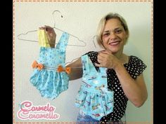 Passo a Passo Apostila Jardineira Summer - YouTube Baby Frock Pattern, Frock Patterns, Bodice Pattern, Baby Dress Patterns, Party Wear Frocks, Baby Pageant Dresses, Sewing Baby Clothes, Baby Bloomers, Culottes