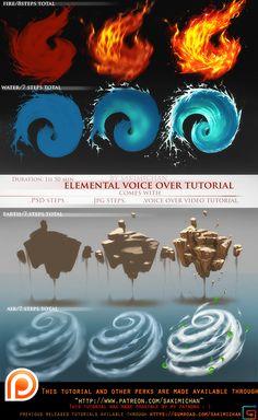 Elemental voice over tutorial pack.promo. by sakimichan.deviantart.com on @DeviantArt