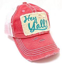 SUMMER EXCLUSIVE! Rose-Pink Women's Hey Y'all Patch TRUCKER HAT CAPS 'N VINTAGE,  http://www.amazon.com/dp/B072ZSPYSH/ref=cm_sw_r_pi_dp_.XgtzbJ1S8JR2