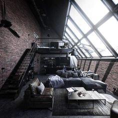 Design Loft, Home Room Design, Dream Home Design, Modern House Design, Home Interior Design, Interior Architecture, Amazing Architecture, Dream House Interior, Luxury Homes Dream Houses