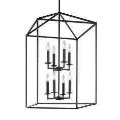 Sea Gull Lighting Perryton 8-Light Blacksmith Hall-Foyer Pendant