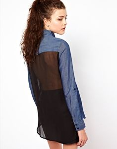 Enlarge Vero Moda Chiffon Back Western Shirt