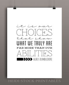 heidi stock | blog: Albus Dumbledore  Choices (+ Come Follow Me LDS Curriculum Handout)