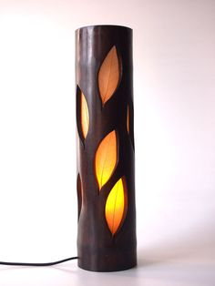 Lámpara de madera regalo de Navidad lámpara de por bamboobg en Etsy