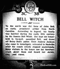 "The Real Bell Witch of Tennessee, or ""paranormal road-trip pit stop #1"""