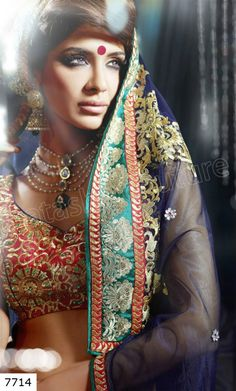 Natasha Couture Ghungroo Lehnga Sarees Collection 2013. Beautiful Colours.