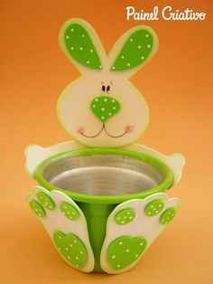 How to make an Easter egg eva potty door delicacy chocolate candies craiancas Tin Can Crafts, Crafts For Seniors, Easter Crafts For Kids, Foam Crafts, Diy Arts And Crafts, Preschool Crafts, Crafts To Make, Painted Clay Pots, Kids Background