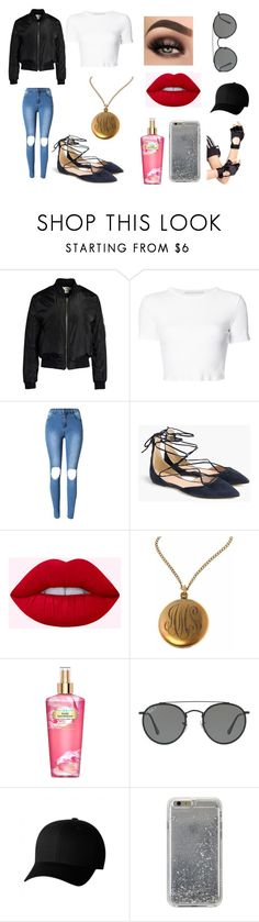"""""""Bar Trouble in the 70's"""" by alexistorrez on Polyvore featuring Sans Souci, Rosetta Getty, J.Crew, Victoria's Secret, Ray-Ban, Flexfit, Agent 18 and Leg Avenue"""