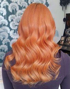 Pastel Red Wavy Hair