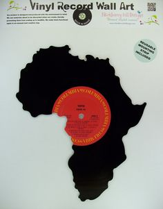 Vinyl Record AFRICA Wall Art, i may do this with one of my old records